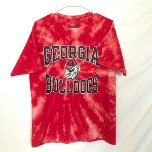 Georgia Bulldogs custom tiedye T-shirt